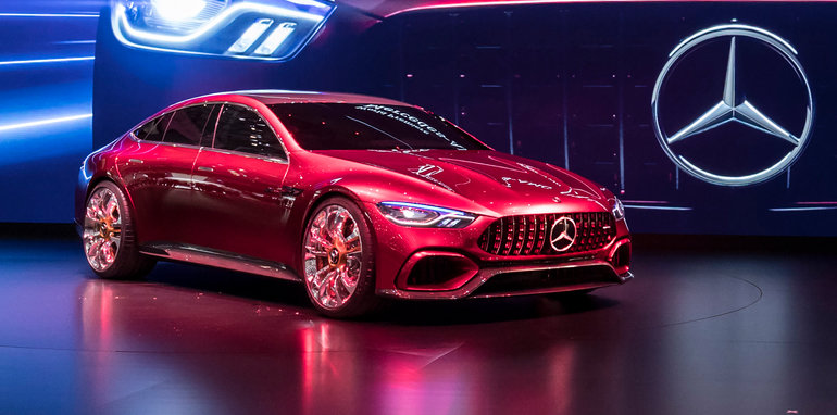 Mercedes-Benz auf dem Internationalen Automobil-Salon Genf 2017: Weltpremiere des Mercedes-AMG GT Concept. Mercedes-Benz at the 2017 Geneva International Motor Show: Worl Premiere of the Mercedes-AMG GT Concept.