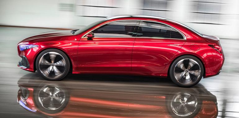 Mercedes Benz A Class Sedan Concept Revealed