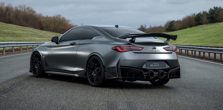 Suggesting a radical reinterpretation of the INFINITI Q60 coupe, the Project Black S features a stand-out, aerodynamically-optimized new design. It also hints at how a performance hybrid powertrain – developed in close collaboration with the Renault Sport Formula One Team – could significantly enhance the performance and dynamics of an INFINITI production car.