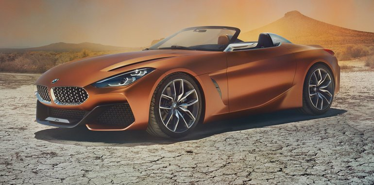 2018 Bmw Z4 New Generation Roadster Previewed For Pebble Beach Show