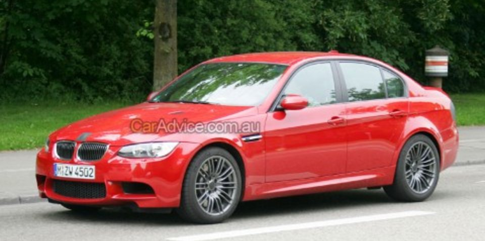 2009 BMW M3 facelift spy photos