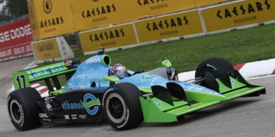 Honda ethanol-powered V8 engines at Indy 300