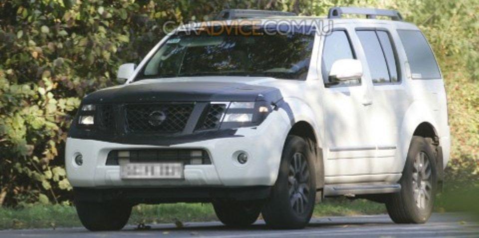 2009 Nissan Pathfinder facelift spied