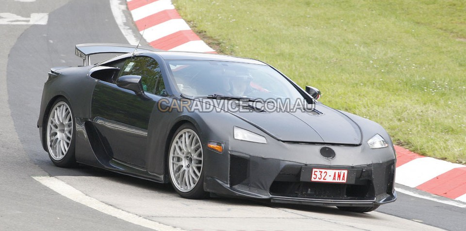 Lexus LF-A spied at the 'Ring, again