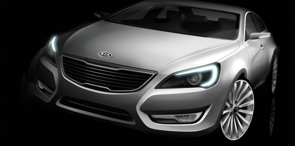 Kia releases first pics of VG sedan