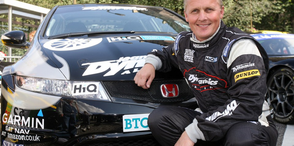 Johnny Herbert drives a Honda Civic Type R
