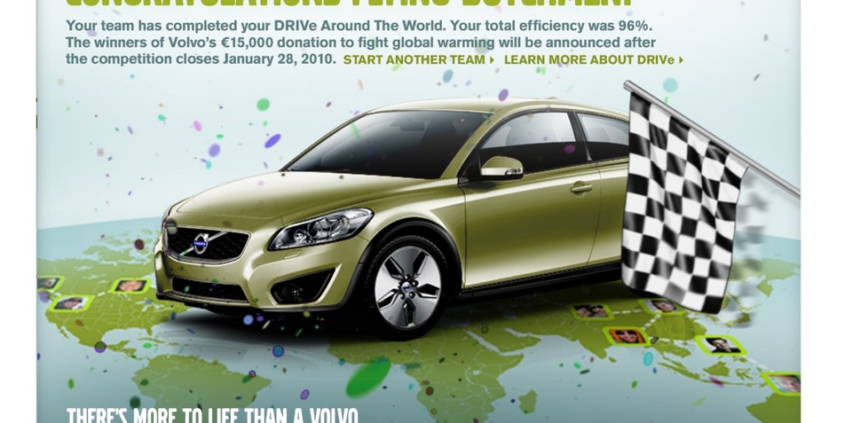 Volvo C30 DRIVe & Facebook launch virtual round world contest
