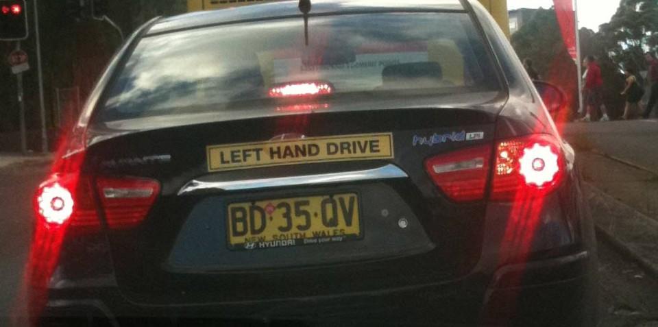 Hyundai Avante LPI Hybrid spied testing in Sydney