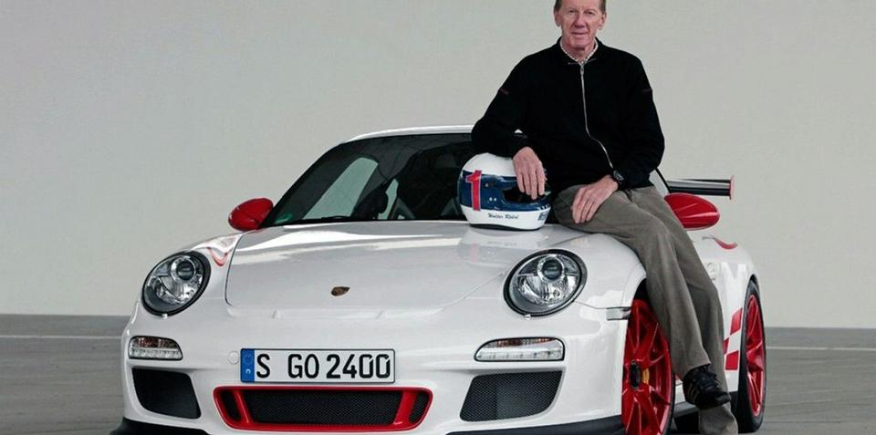 Porsche GT3 RS and Walter Rohrl at Nurburging