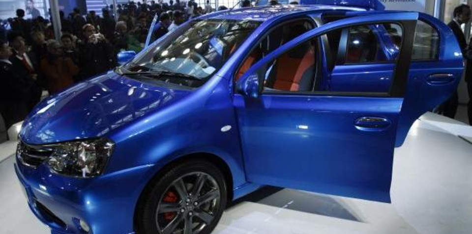 Toyota Etios low-cost car revealed at India's Auto Expo