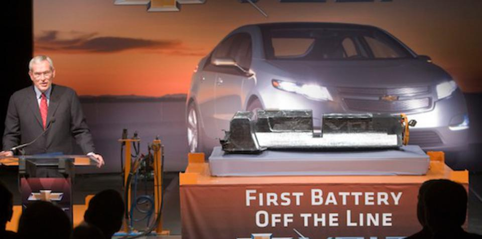 Chevrolet Volt's first battery pack produced