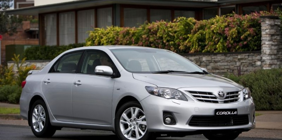 2010 Toyota Corolla sedan updated for Australia
