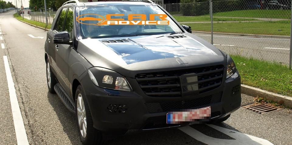 2011 Mercedes-Benz ML-Class spied