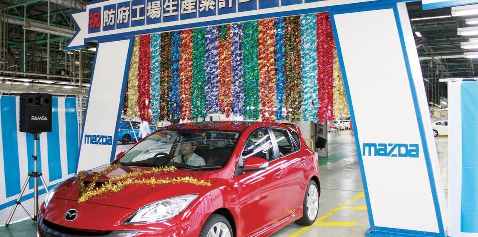 Mazda builds nine millionth car at Hofu plant in Japan