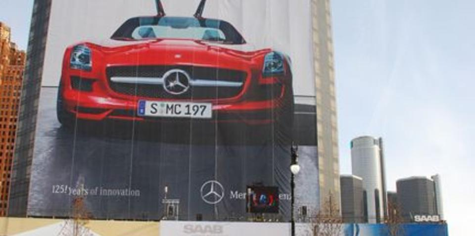 Mercedes-Benz goes larger than life at Detroit