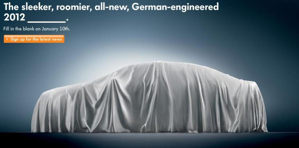 2012 Volkswagen New Midsized Sedan teaser released