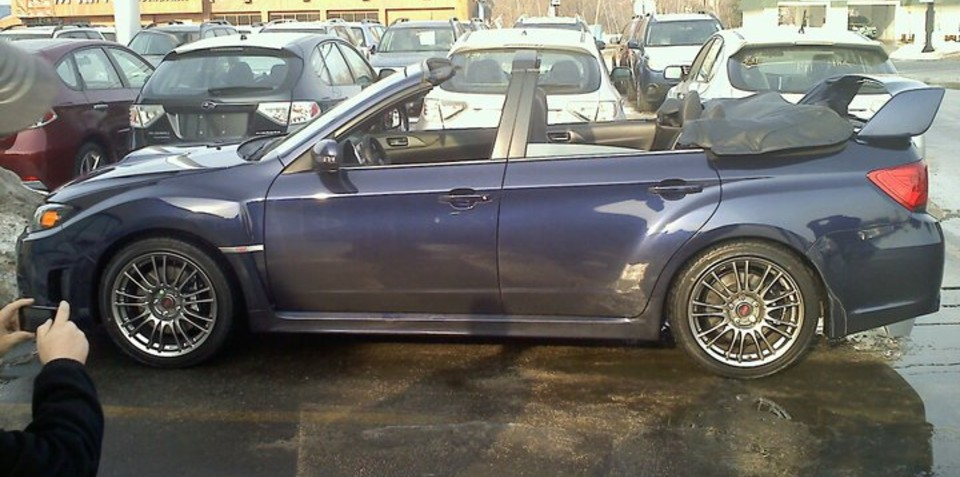 Subaru WRX STI Convertible is all kinds of wrong