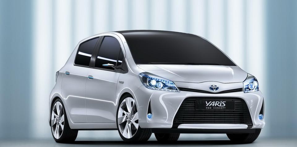 2012 Toyota Yaris HSD Hybrid concept at Geneva show