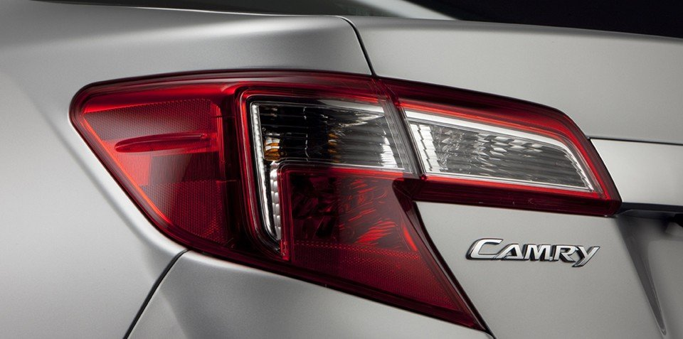 2012 Toyota Camry taillight teaser