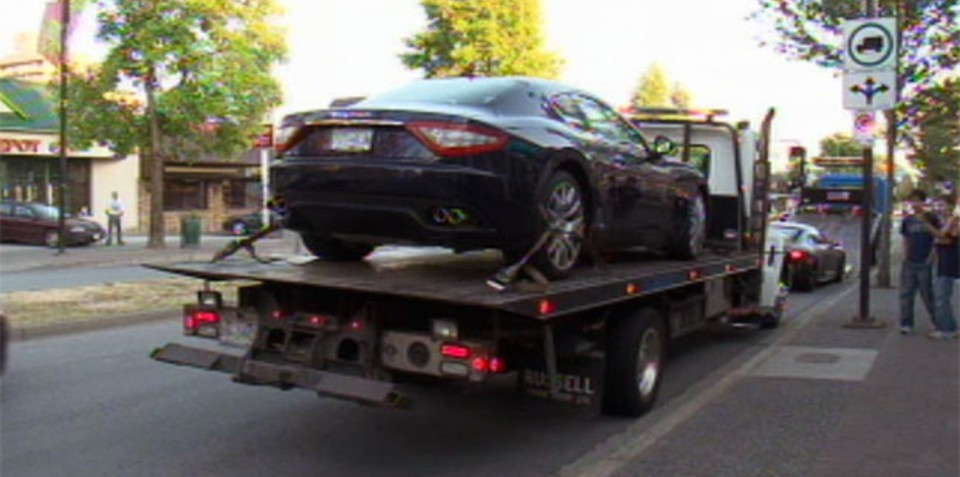 Supercar street race ends in 13 vehicles impounded