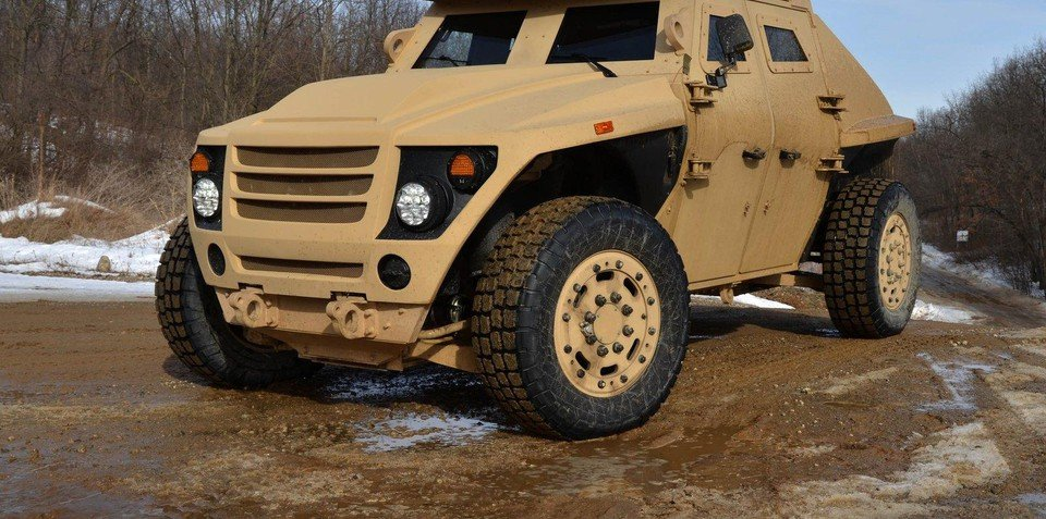 FEE ALPHA green armoured vehicle created by Ricardo and US military