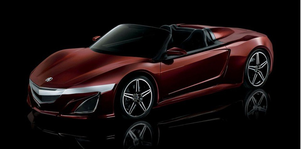 Acura Nsx Roadster From The Avengers Teases Open Top