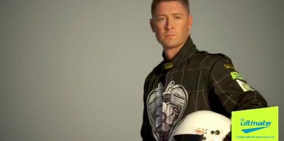 Michael Clarke hit for six over rally drive