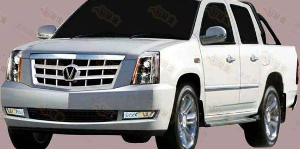 Cadillac Escalade EXT cloned by Chinese car maker