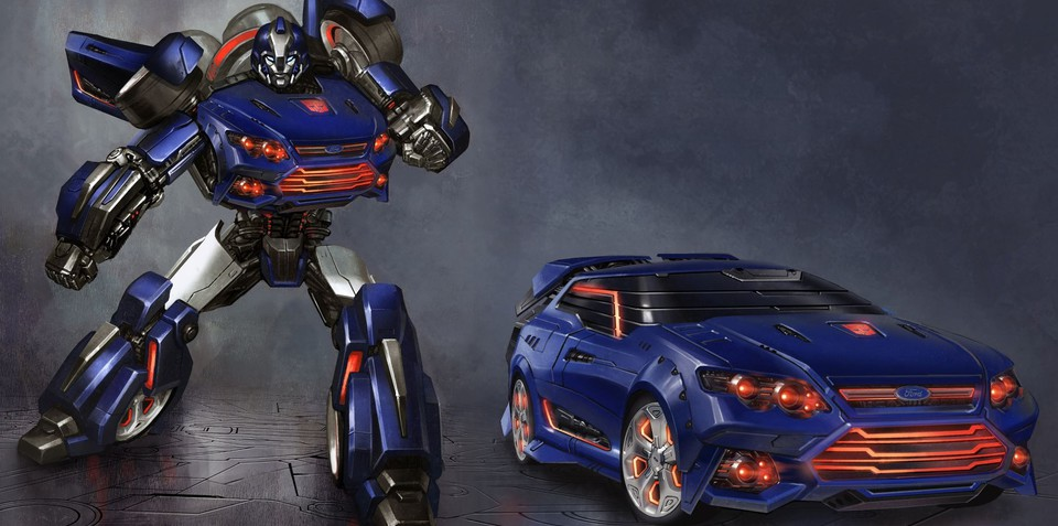 Ford Falcon turned into 'Falcatron' Transformer