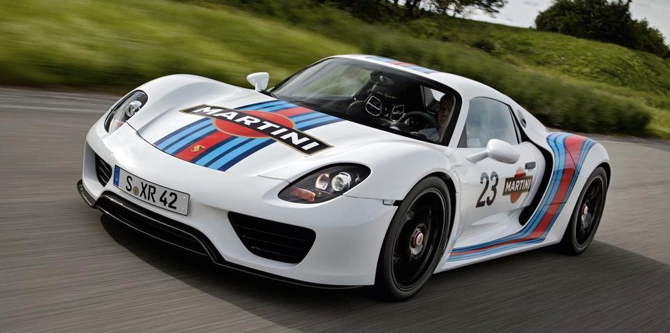 Porsche 918 Spyder: Martini Racing livery unveiled, interior spied