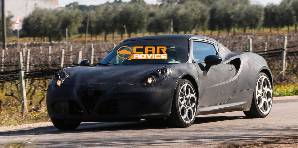 Alfa Romeo 4C: Italian sports car spied testing