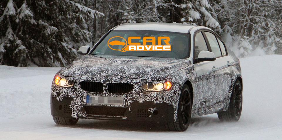 BMW M3 sedan spied winter testing