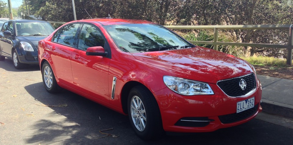Holden VF Commodore base model caught undisguised
