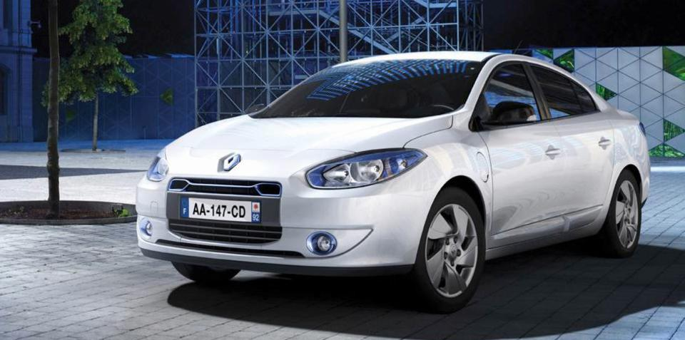 Renault Fluence Z.E. Australian launch stalled