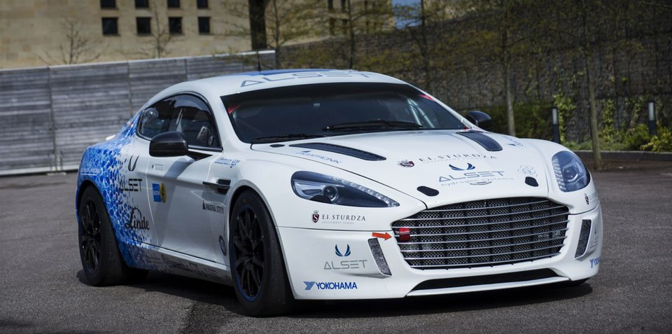 Aston Martin Rapide S Hydrogen Hybrid makes history at the Nurburgring