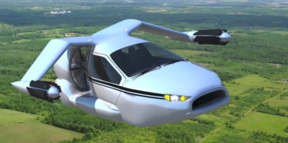 Terrafugia TF-X: plug-in hybrid flying car under development