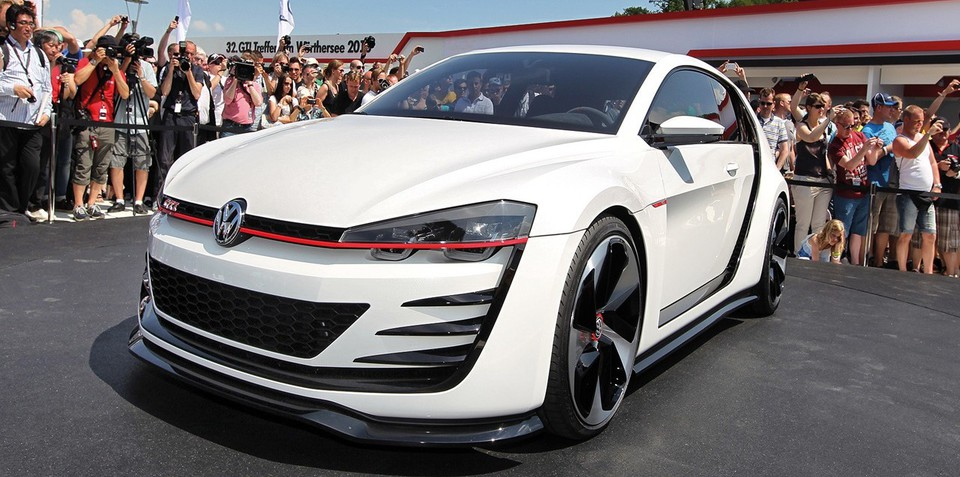 Volkswagen Golf GTI Design Vision concept revealed