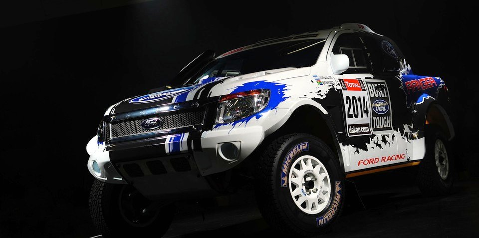 Ford Ranger gets V8 power for 2014 Dakar Rally