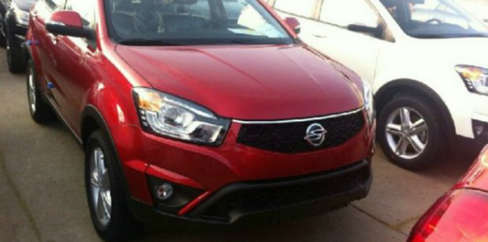 Ssangyong Korando facelift spied, here in 2014