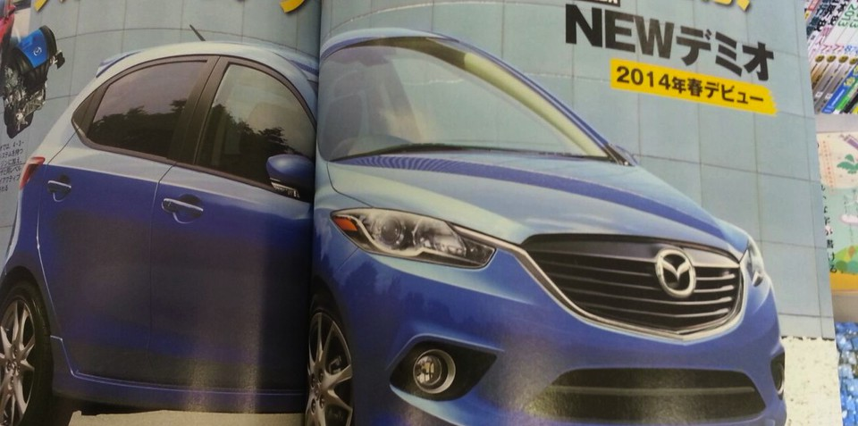2014 Mazda 2 rendering appears in Japanese magazine