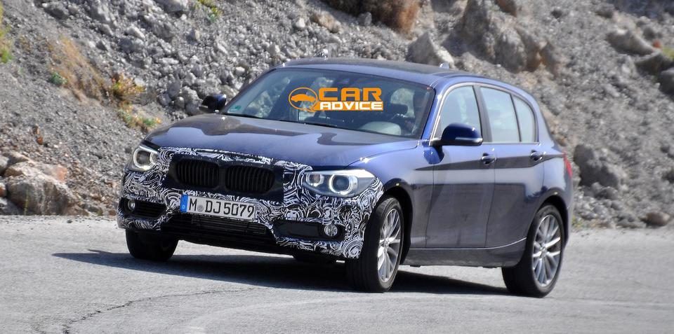 BMW 1 Series facelift spied