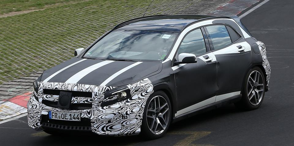 Mercedes-Benz GLA45 AMG: performance crossover spied