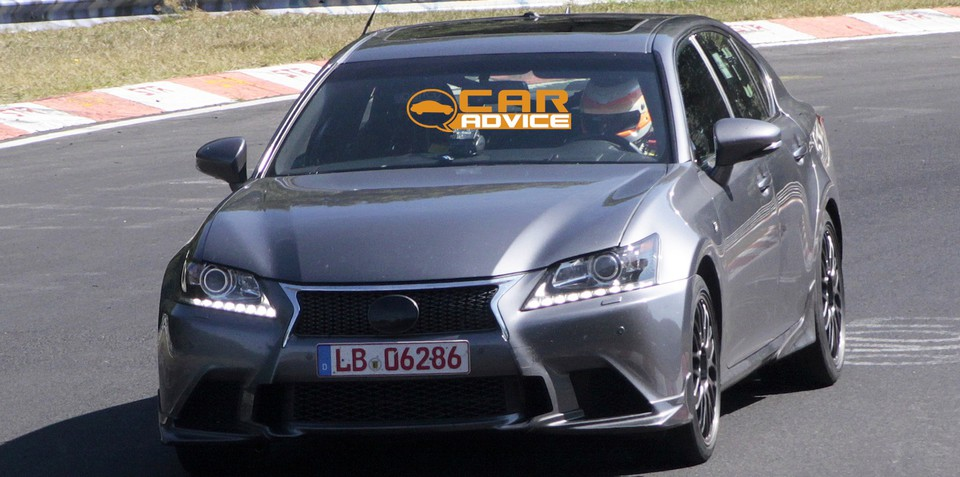 Lexus GS F: Japanese super sedan caught on track