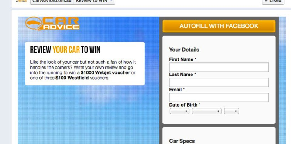 Review your car for a chance to win a $1000 Webjet voucher