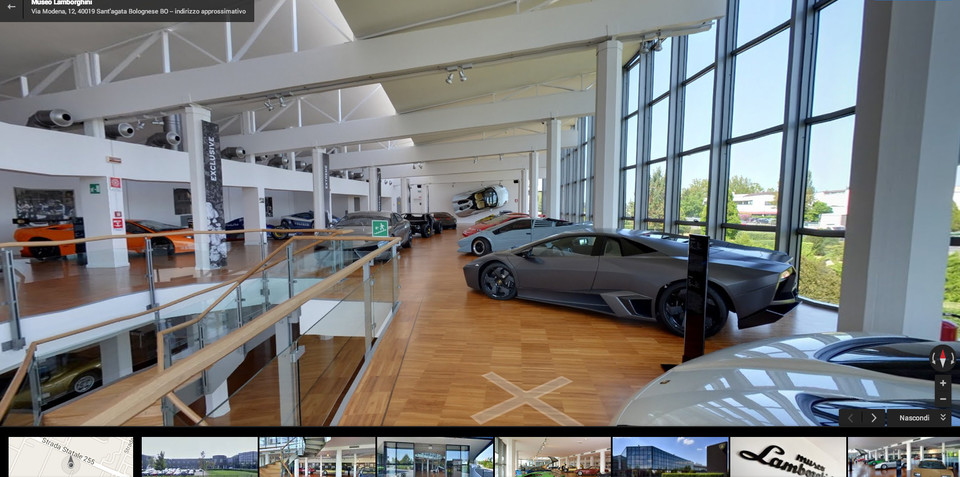Lamborghini launches Google Maps virtual museum tour