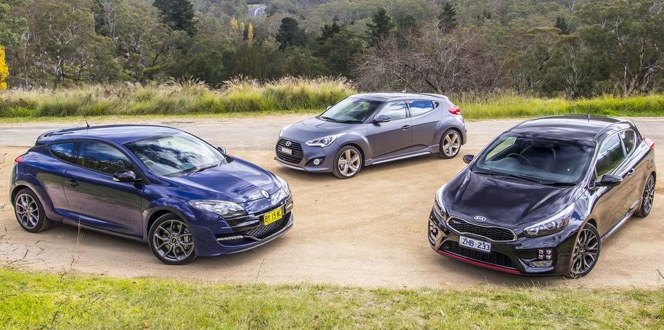 Sporty hatch comparison : Kia Pro_cee`d GT v Hyundai Veloster SR Turbo v Renault Megane RS265 Sport