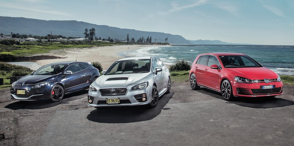 Sports car comparison : Subaru WRX v Volkswagen Golf GTI Performance v Renault Megane RS265