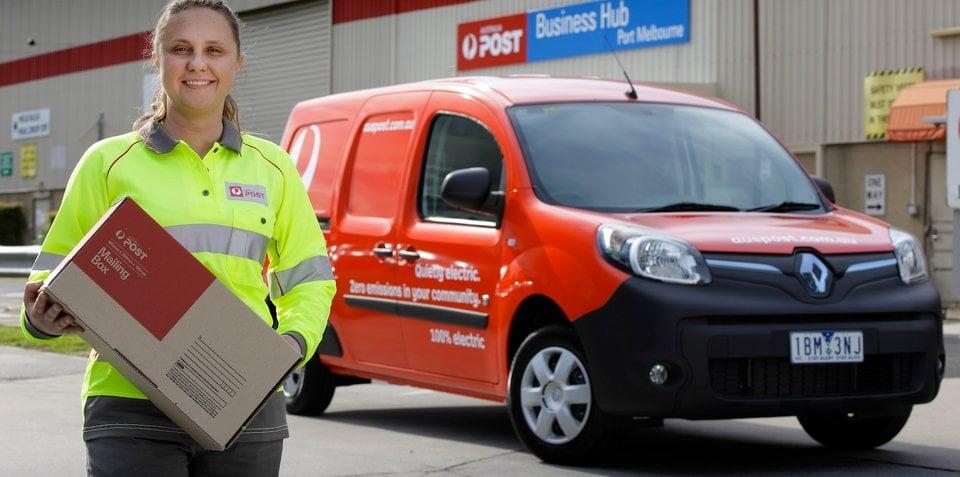 Renault Kangoo Z.E. : Electric vans join Australia Post fleet in 12-month trial