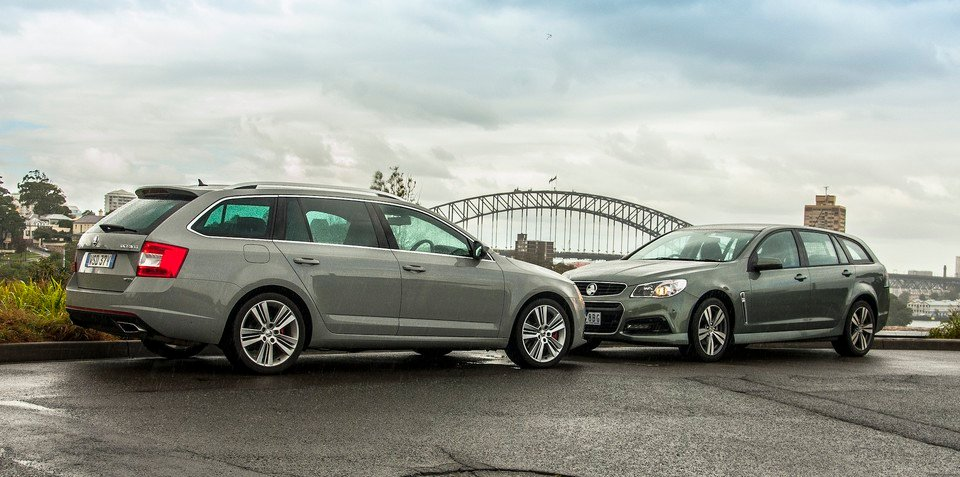 Holden Commodore SV6 Sportwagon v Skoda Octavia RS : Comparison review