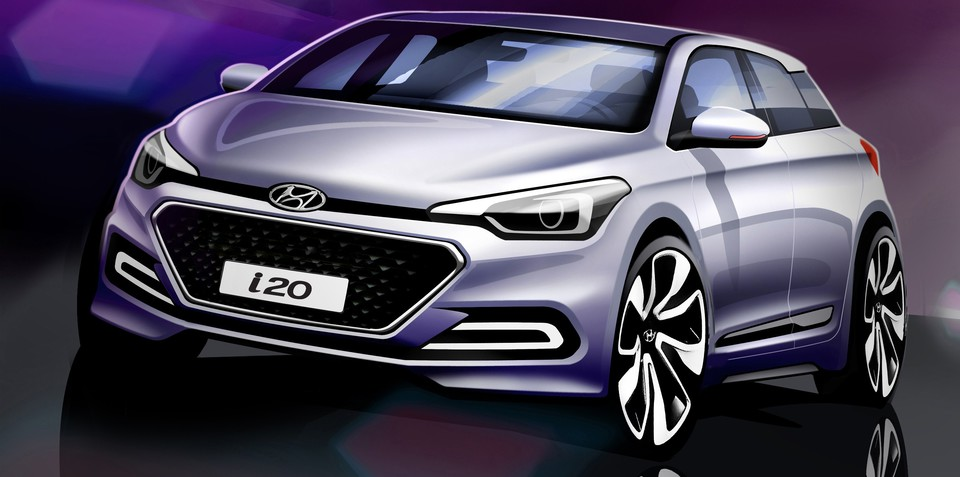 2015 Hyundai i20 sketches reveal all-new city car's styling